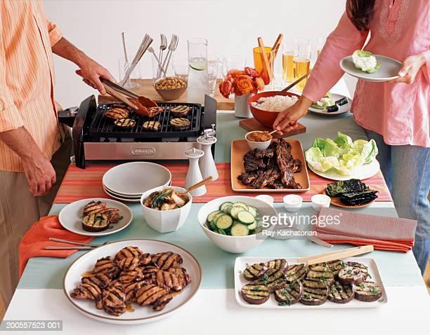 Traditional korean food on table