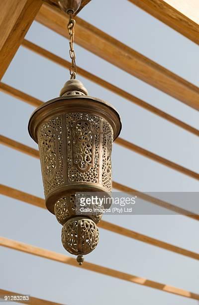 Traditional lantern, low angle view, Souk Al Bahar, Burj Dubai, Dubai, United Arab Emirates