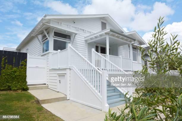 traditional large bungalow house - rafael ben ari stockfoto's en -beelden