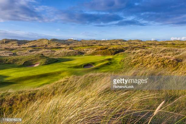 traditional links golf course - ulster province stock pictures, royalty-free photos & images
