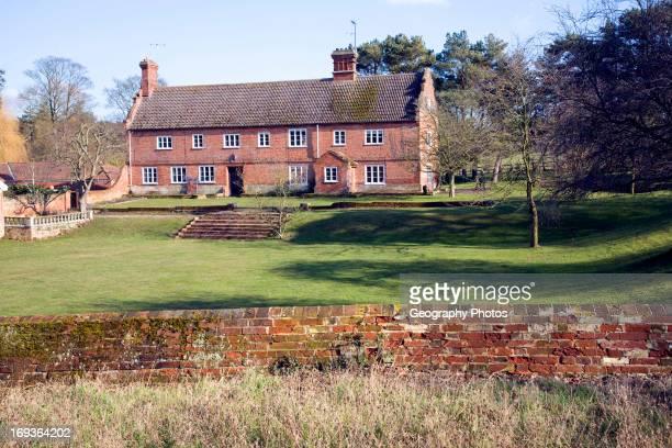Traditional long farmhouse building Sudbourne Suffolk England