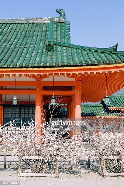 Traditional looking Japanese building in Kyoto.