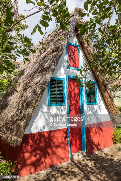 traditional madeira house - madeira fotografías e imágenes de stock