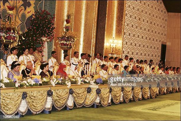 Traditional Malay ceremony and royal wedding banquet at the Palacefor Crown Prince AlMuhtadee Billah Bolkiah and Sarah Salleh in Bandar Seri Bagawan...