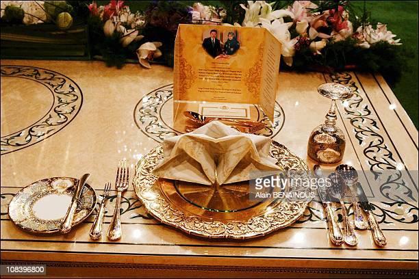 Traditional Malay ceremony and royal wedding banquet at the Palacefor Crown Prince AlMuhtadee Billah Bolkiah and Sarah Salleh in Bandar Seri Bagawan...