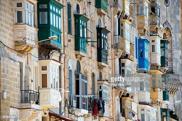 Traditional Maltese wooden balcony