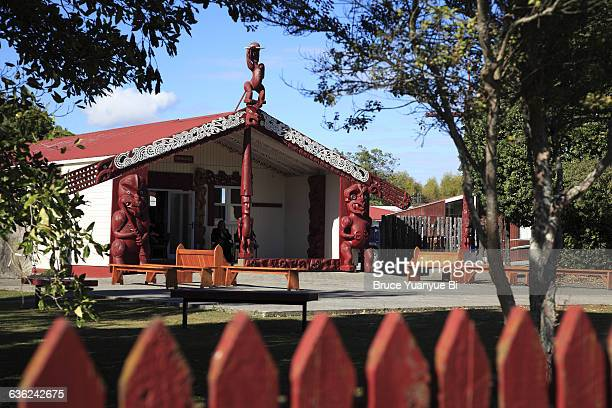 Traditional Maori Meeting House of Turangaapeke
