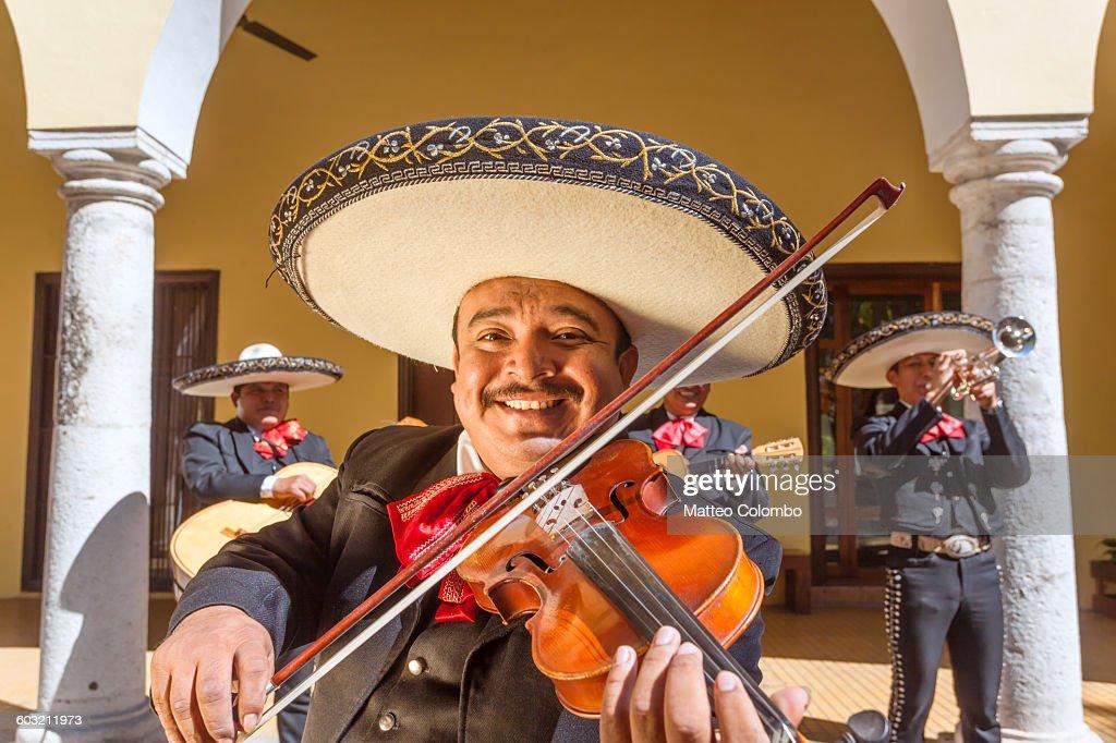 Traditional Mariachi band, Yucatan, Mexico : Stock Photo