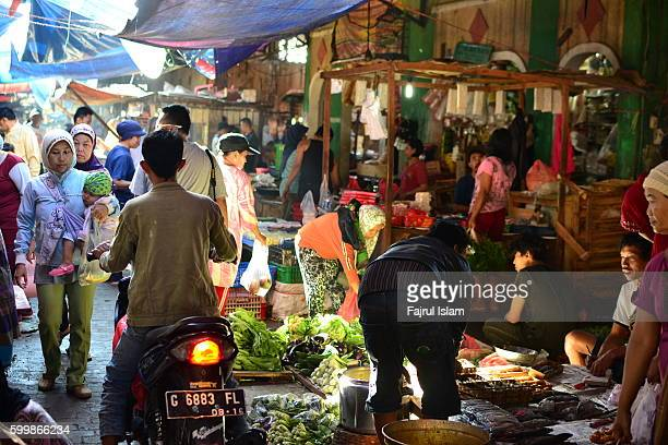 Traditional Market with A Ray of Light