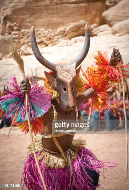 Traditional masquerade in Tirelli Pays Dogon