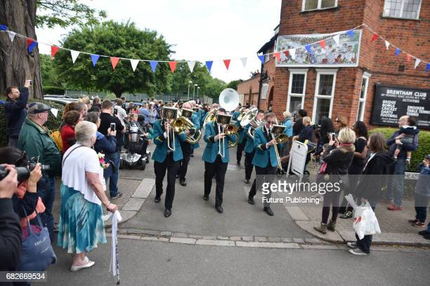 Traditional May Day celebrations with the crowning of a May Queen procession and a Maypole at Brentham Garden Suburb on May 13 2017 in London England...