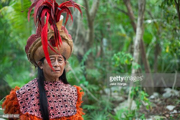 traditional mayan performer - jake warga stock photos and pictures