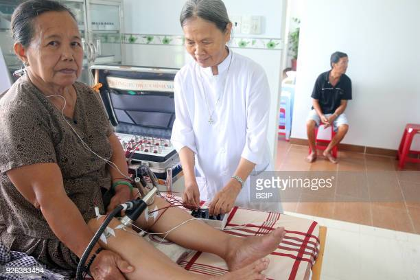 Traditional medicine clinic Acupuncture Cu Chi Vietnam
