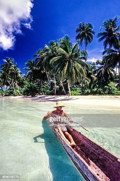 Traditional Mentawai canoe