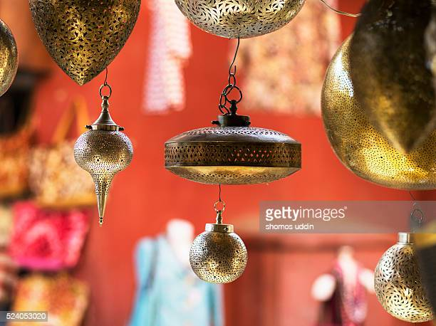 Traditional metal lamps