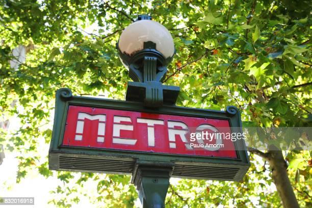 Traditional Metro Sign of Paris