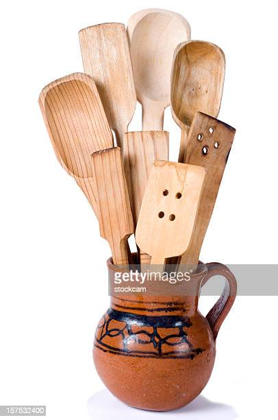 traditional mexican wooden spoons - kitchenware shop stock pictures, royalty-free photos & images