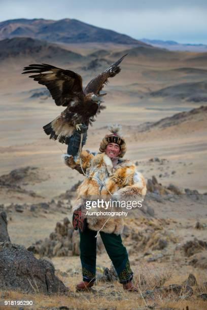 Traditional Mongolian Eagle Hunters