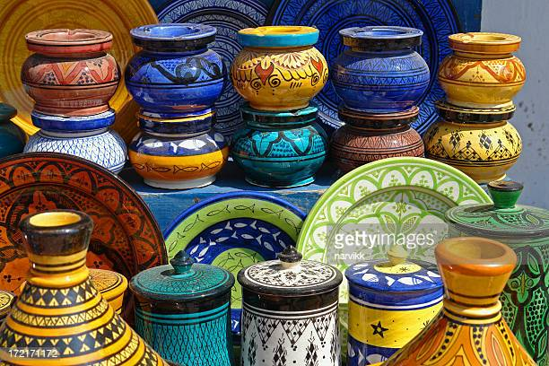 Traditional Moroccan Pottery on the Market