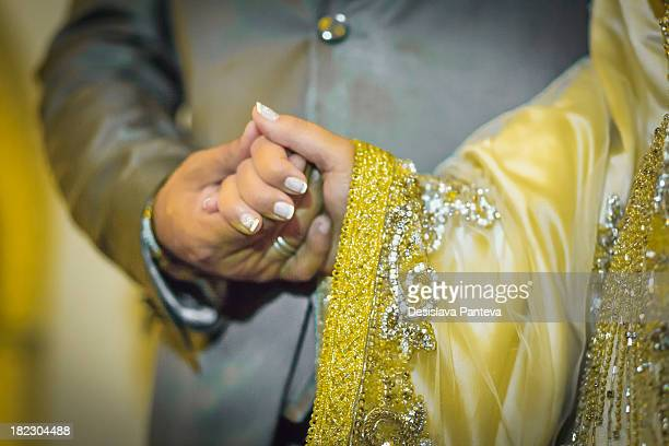 Traditional moroccan wedding,the marriage celebration includes several well organized ceremonies, the wedding dress is usually a caftan, a sort of...