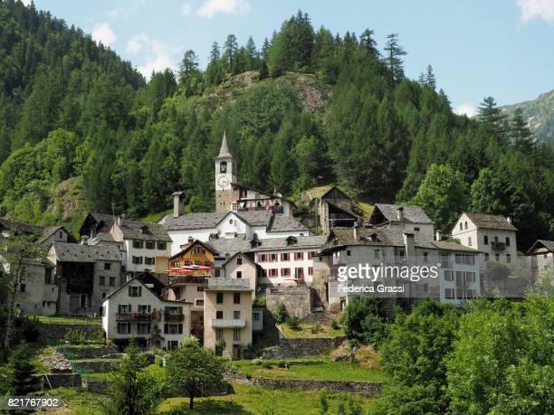 Traditional Mountain Village of Fusio, Ticino, Switzerland