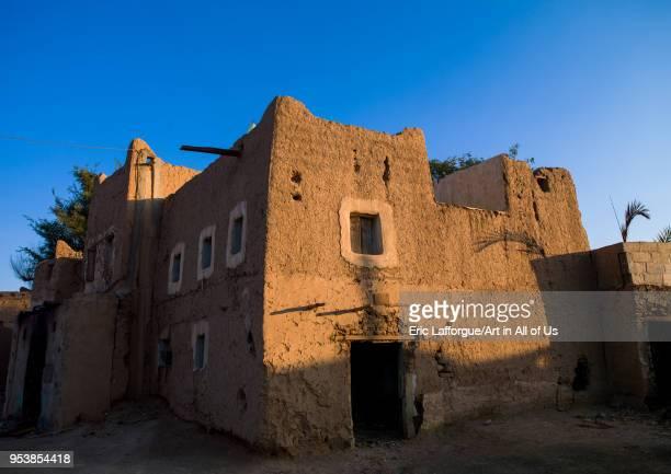 Traditional mudbricks house Najran Province Najran Saudi Arabia on January 16 2010 in Najran Saudi Arabia