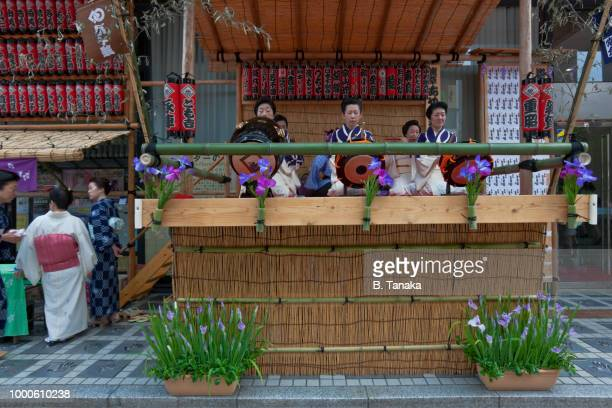 Traditional Music Performance at Sanja Festival in the Old Downtown Asakusa District of Tokyo, Japan