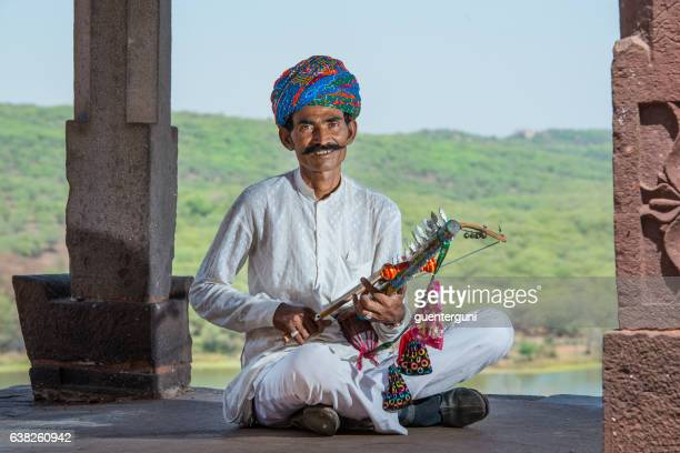 Traditional musician  from Rajasthan, India