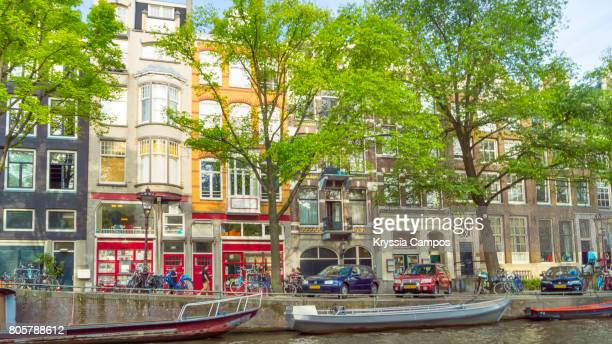 Traditional narrow Dutch houses, Amsterdam - The Netherlands