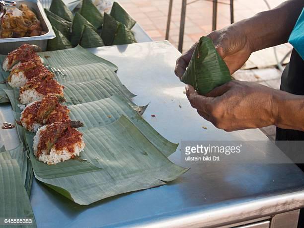 Traditional nasi lemak makers in Penang Malaysia