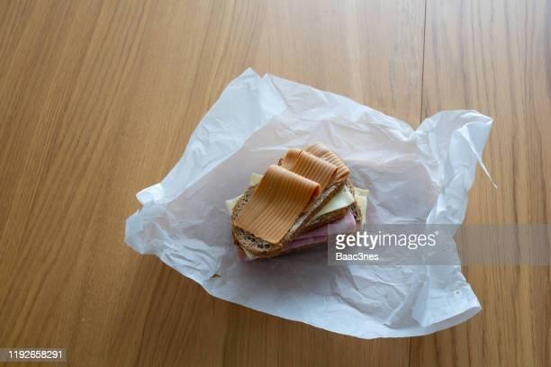 traditional norwegian lunch - servierfertig stock-fotos und bilder