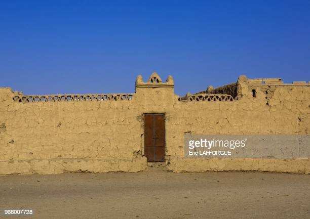 Traditional nubian architecture of a doorway sesebi Sudan on March 21 2013 in Delgo Sudan