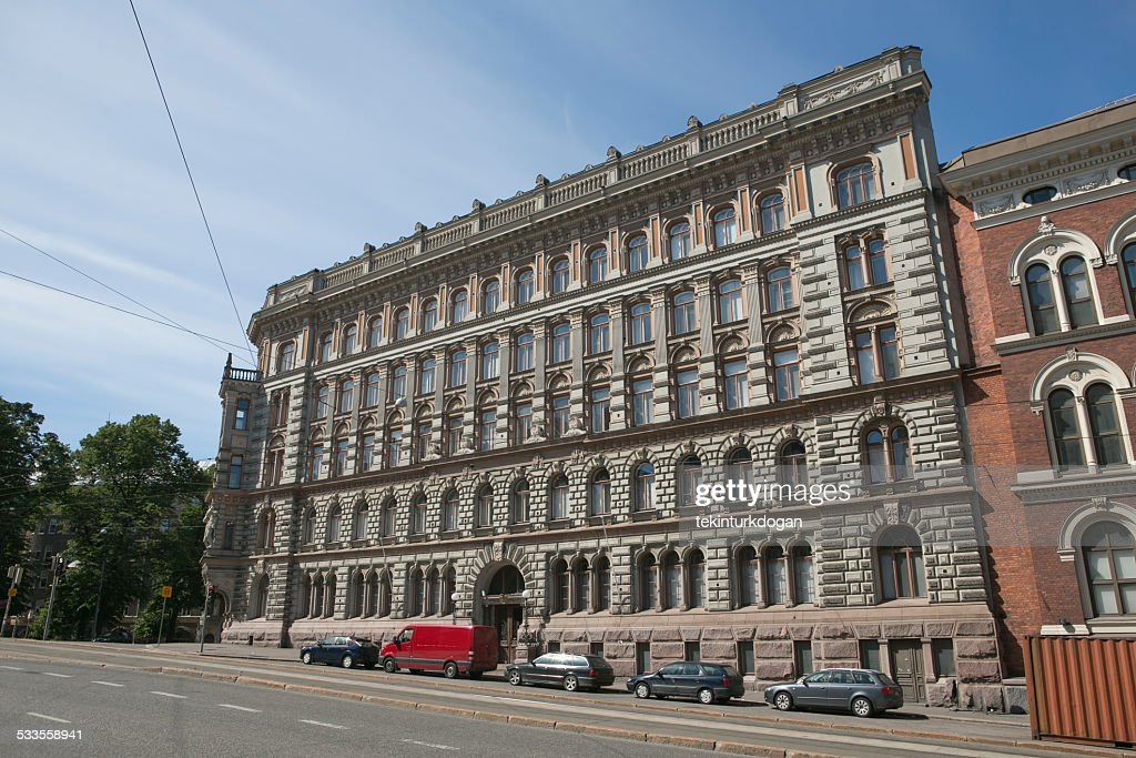 traditional old buildings at helsinki finland : Stock Photo
