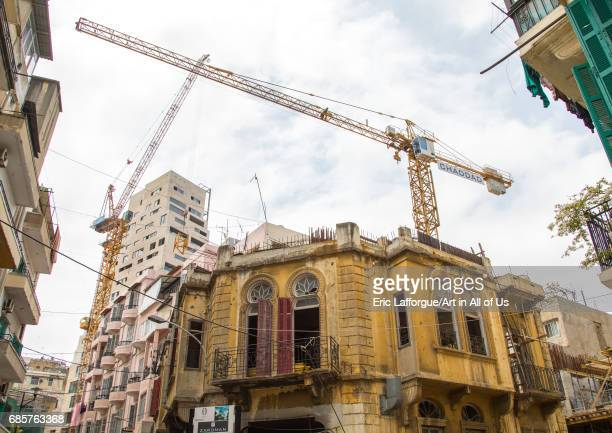 Traditional old buildings in Mar Mikhael Beirut Governorate Beirut Lebanon on April 28 2017 in Beirut Lebanon