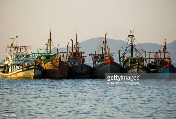 Traditional Old Fashioned Fishing Boats or Trawlers