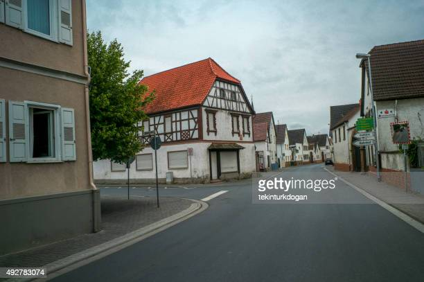 traditional old houses at street of worms germany