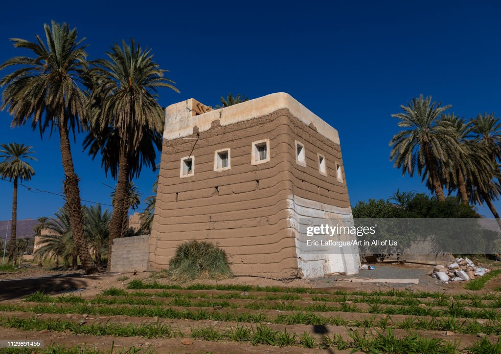 Traditional old mud house, Najran Province, Najran, Saudi Arabia on