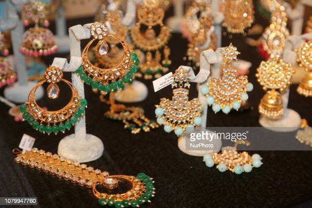 Traditional opulent North Indian bridal jewellery seen during the Lavish Dulhan bridal show in Toronto Ontario Canada The show offered those in the...