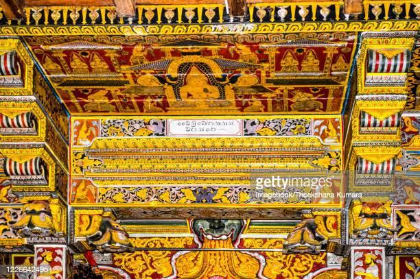 traditional painting at tooth relic at sri dalada maligawa, kandy. - imagebook stock pictures, royalty-free photos & images