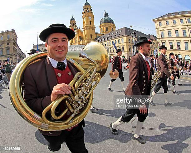 Traditional parade at Oktoberfest, Munich, Bavaria