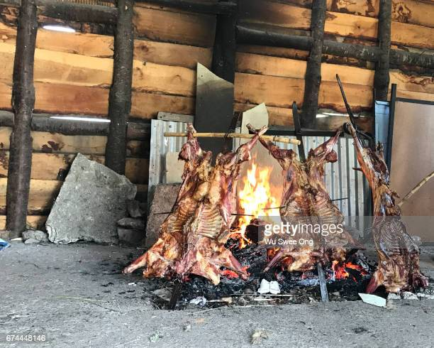 Traditional Patagonian Lamb Roasted on Spit