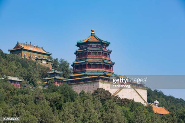 Traditional pavilion building in Imperial Summer Palace in Beijing, China