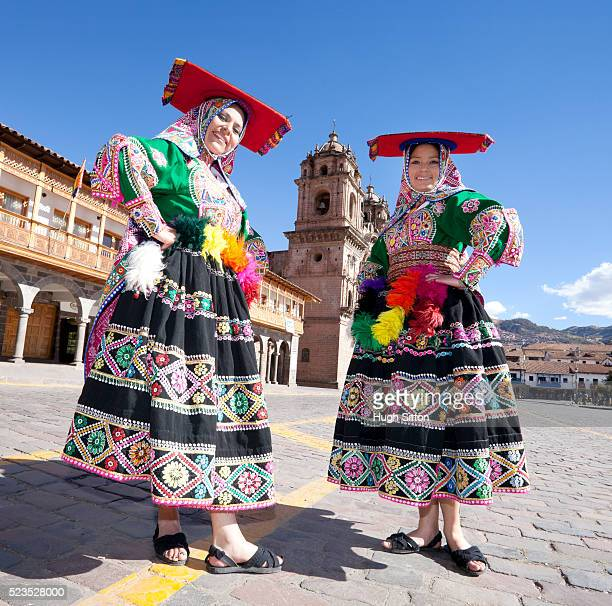 traditional peruvian dancers, cusco. peru - hugh sitton stock pictures, royalty-free photos & images