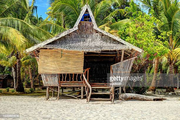 traditional philippine house - shack stock pictures, royalty-free photos & images