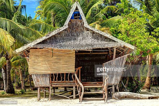 traditional philippine house - hut stock pictures, royalty-free photos & images