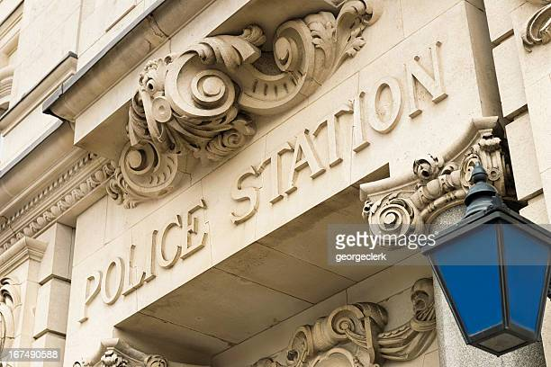traditional police station sign and lantern - west midlands stock pictures, royalty-free photos & images