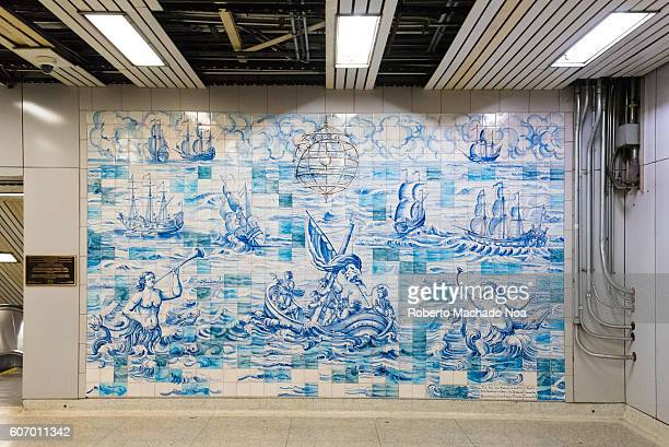 Traditional Portuguese Artwork by Ana Vilela inside TTC Toronto Transit Commission The TTC is a public transport agency that operates transit bus...