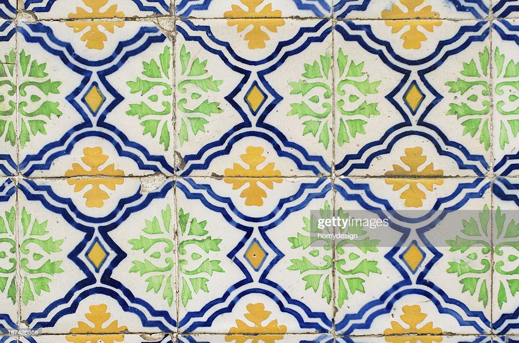 Traditionelle portugiesische glasierten Kacheln : Stock-Foto