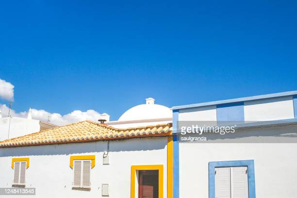 traditional portuguese houses - faro district portugal stock pictures, royalty-free photos & images