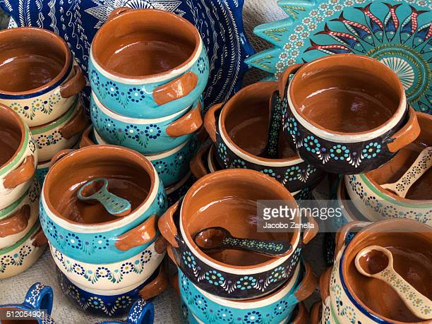 Traditional pottery from Michoacan, Mexico